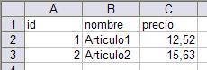 Resultado Excel ODBC