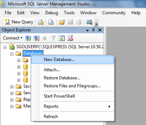 sqlserver-new-database