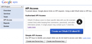 Google API Console - New Server Key