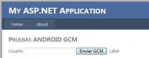 Web Envío GCM