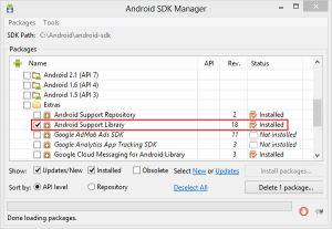 sdk-manager-android-support
